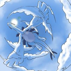 Lugia (favorite Pokémon).  (Possible) Right thigh (face) piece.