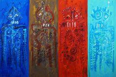 Los 4 elementos Miguel Auauhtémoc Pintura Öleo sobre tela 150 x 100 cms 2016 $ 28, 000.00 M.N  #emocioneterna #proyectonomada #centrodeportivoisraelita #cdi #gael #galeriartenlinea #pasionporelarte #artistasparticipantesemocioneterna @galartenlinea