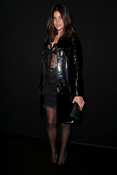 Fashion Week Front Rows And Parties Julia Restoin Roitfeld, Carine Roitfeld, Spring Summer 2016, Front Row, Stylish Outfits, The Row, Style Me, Leather Skirt, How To Look Better