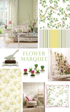 Laura Ashley Flower Marquee Collection - I like this color scheme/collection for the dining room
