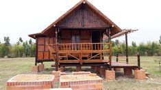 Interest Hub saved to House บ้านไม้ไผ่ . Thai House, Style At Home, Bahay Kubo Design, Small Wooden House, Bamboo Architecture, House On Stilts, Bamboo House, My Dream Home, My House