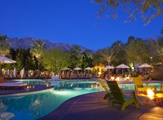 Spa Terre, Riviera Palm Springs.  I would love to do a spa retreat with a love.  I think it would be so romantic.