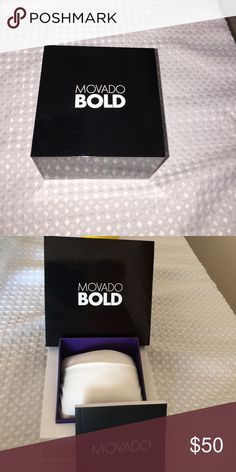 Movado Watch Box -Authentc Excellent new condition Movado Accessories Watches
