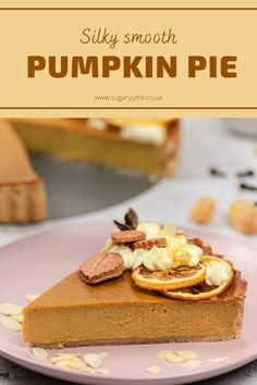 The most delicious autumn spiced pumpkin pie with fragrant spices, smooth and creamy interior, spiced crust and cream cheese frosting. Fall Recipes, Delicious Recipes, Yummy Food, Spiced Pumpkin, Pumpkin Spice, No Bake Desserts, Dessert Recipes, Most Popular Desserts, Burger Buns