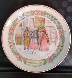 Vintage Wedgwood Plate Christmas Traditions 1988 Carol Singing
