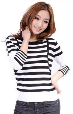 Classical Round Neck Long Sleeve Stripes Black/White Knitwear Biggoldapple,http://www.amazon.com/dp/B009SHPLIC/ref=cm_sw_r_pi_dp_S5i3qb1CZB674V9E
