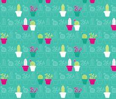 Mini Cactus Joy fabric by joyfulroots on Spoonflower