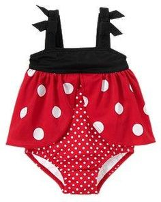 Ladybug One-Piece Swimsuit My Layla would look so cute in this!