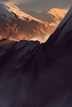 Mountains 2 | Illustrator: Jamshed Jurabaev
