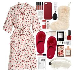 """""""#PolyPresents: Stocking Stuffers"""" by douxlaur on Polyvore featuring HVN, Nordstrom, OPI, Slip, Victoria's Secret, philosophy, Gucci, beautyblender, Apple and Joanna Vargas"""