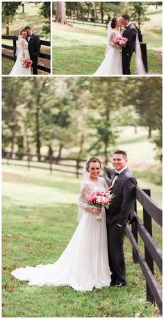 Northwest Arkansas barn venue - Barn at the Springs, bride and groom portrait, pink wedding bouquet, pink peonie bouquet - Courtney + Aaron   Northwest Arkansas Wedding Photography - Simply Bliss Photography Blog