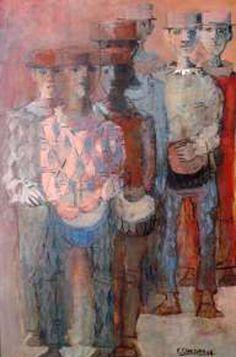 PINTORES LATINOAMERICANOS-JUAN CARLOS BOVERI: pintores uruguayos: cabezudo fernando
