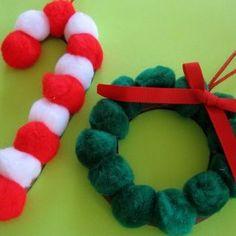 Más adornos para nuestro árbol de navidad, esta vez con pompones