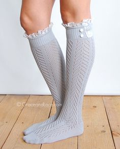 Shark Tank Boot Socks From Grace And Lace - The Hottest Lace Boot Socks Lace Boot Socks, Hunter Boots Outfit, Fall Outfits, Cute Outfits, Steampunk Boots, Grace And Lace, Fashion Socks, Emo Fashion, Fashionable Snow Boots