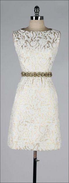 vintage 1960s dress . metallic brocade by millstreetvintage