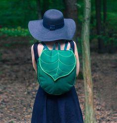 Bolsa inspiradas em folhas - criadas pela marca Leafling;