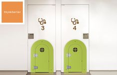 """kids doors. Small kids doors. Fit into any interior door larger than 26"""" in width. Use in either interior doors or even in walls. Great for children ages 1 to 6. Used in schools, offices or in the home. Small Doors, Interior Doors, Offices, Schools, Locker Storage, Larger, Kids Room, Room Kids, Desks"""