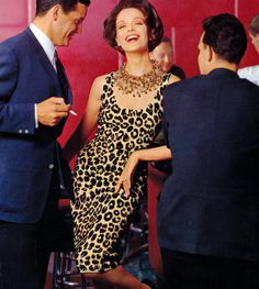 Tres Chic, Vintage 1960s Leopard Bombshell Cocktail Wiggle Dress: vintage knitting pattern
