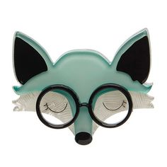 "Erstwilder Limited Edition Emry the Asleep Fox Brooch. ""Emry's wisdom is just this... There is a time for many words and there is also a time for sleep."""
