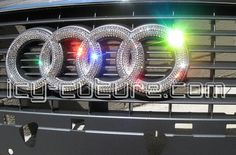 BLING AUDI Emblems with Swarovski Crystals. Whats your color?