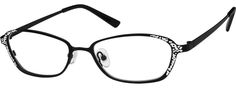 Women's Black 4018 Stainless Steel Full Rim Frame | Zenni Optical Glasses-HKvNlKrs