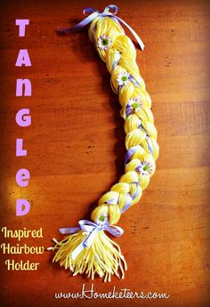 DIY Rapunzel Braid ~ Tangled Hairbow Holder: Oh goodness gracious this is adorable!