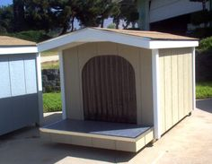 these would be great for out in the play area for multiple small dogs to share    dog house designs for big dogs | The Doogie Condo 979.425.5765