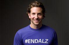 Bradley Cooper goes purple for Alzheimer's & Brain Awareness Month - join the movement! #GoPurple