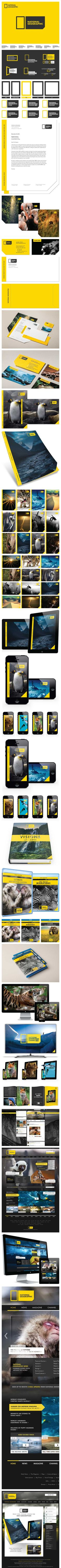 National Geographic Rebrand by Justin Marimon