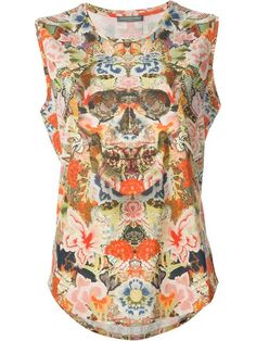Shop Alexander McQueen floral skull vest in Gente Roma from the world's best independent boutiques at farfetch.com. Over 1000 designers from 300 boutiques in one website.