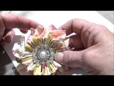 Hope you like this new fabric flower! Below is a link to my old video on how to do the flower centers too! TFW :) New Ribbon Slider Flower Centers Tutorial: ...