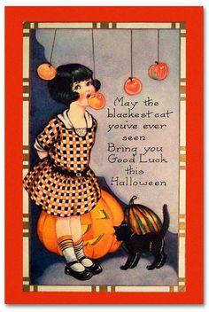 Trademark Global Vintage Apple Collection 'Halloween Apple Bobbing' Canvas Art - 12