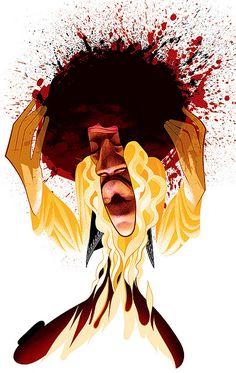 Jimi Hendrix by Andre Carrilho | Flickr - Photo Sharing!