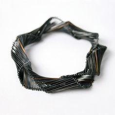 twill bracelet..Rebecca Little