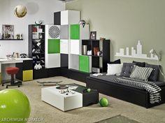 Pokój braci 1 Shelving, Entryway, Room, Furniture, Home Decor, Youth, Shelves, Entrance, Bedroom