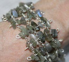 Labradorite bracelet  silver plated crystal door HopeHomeEssentials