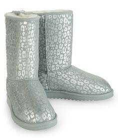 Metallic Animal Sherpa Boot - Aeropostale