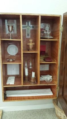 Sacristy cabinet open