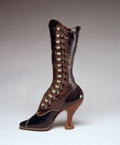 steampunktendencies: Jack Jacobus, Ltd., boot, leather, circa 1900, Austria, gift of Victoria and Albert Museum. (Fashion Institute of Technology)