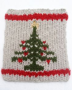 Christmas Tree Square in Double Knit.