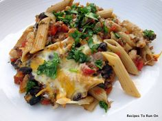 Mexican Baked Penne: Yummy, easy dinner recipe... #easy #dinner #recipes