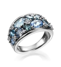 Mark Patterson – Intensity Collection 18K Green Multi-stone Fashion Ring - Click for More...