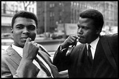 who is sidney poitier | Muhammad Ali and Sidney Poitier. Vintage hunks of yesteryear. | People