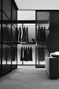 Ultra Modern Interior design - Explore part two of the top 100 best closet designs for men Discover cool walkin closet ideas plus masculine organizational storage ideas Walk In Closet Design, Wardrobe Design, Closet Designs, Sliding Door Systems, Sliding Doors, Armoire Design, Modern Closet, Walk In Wardrobe, Sliding Wardrobe