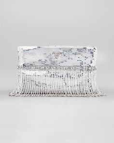 3131fb48c2f9 Beaded Paillettes Flat Clutch Bag