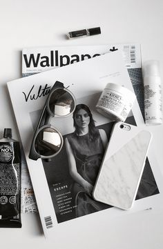 Black and White styling with a real marble iPhone case from Native Union via @vulturemag