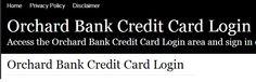 Orchard Bank Credit Card Login #WinatomAddmefastBot
