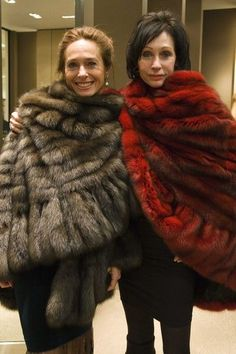 Gorgeous fur capes