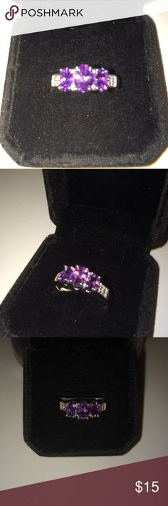 Purple Amethyst 925 Sterling Silver Ring Brand new . Size 7 . Purple Amethyst gemstone . 2.5 ct total weight . 925 stamped band Sterling silver . Brand new never worn . No prop box included . Wrapped and shipped with care . Fire & Ice Jewelry Rings