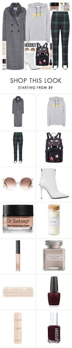 """""""Teardrop"""" by pure-and-valuable ❤ liked on Polyvore featuring Prada, Être Cécile, Burberry, Chloé, Alexander Wang, Dr. Sebagh, NARS Cosmetics, Mullein & Sparrow, Superior and OPI"""